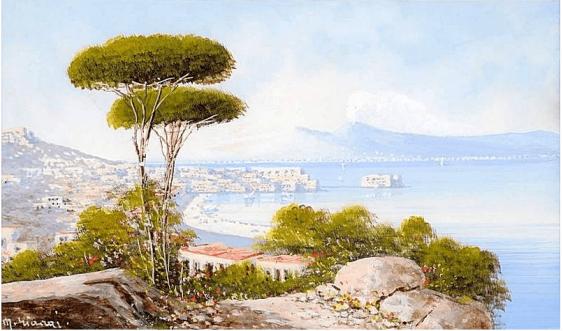 Autor: M. Gianni Italien, Ende des XIX Jahrhunderts, Gouache - Foto 1