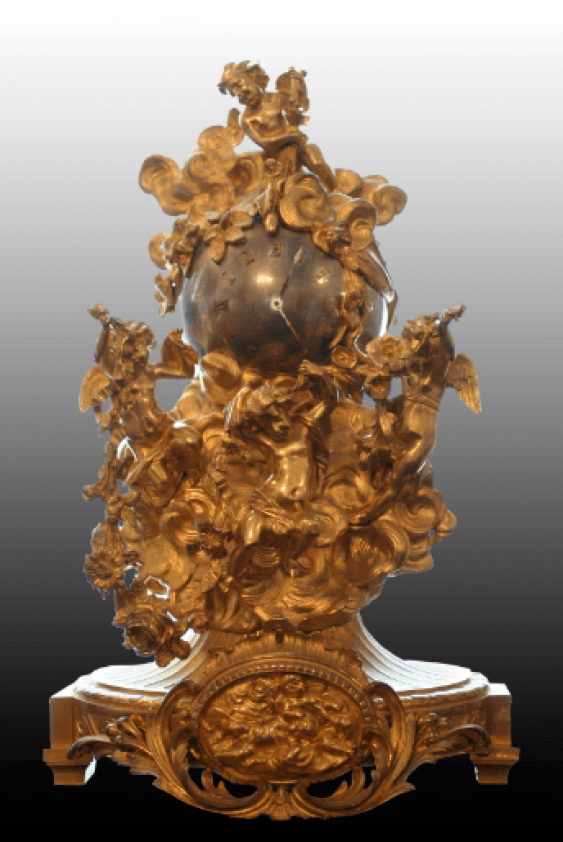 Table clock in the form of a ball - photo 1