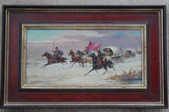 "Pair of paintings ""Battle on horses"". Author: Smolnikov. 1925. - photo 4"