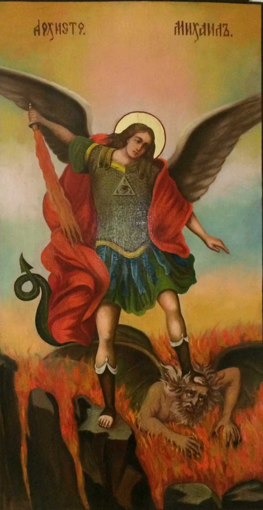 """Icon """"Archangel Michael"""". The Isachev A. 1976 (with expert opinion) - photo 1"""