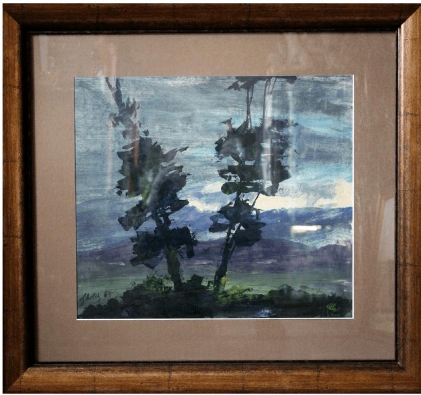Cornelius Sanadze (1907 - 1982) of the USSR, 1967, watercolor on paper - photo 1