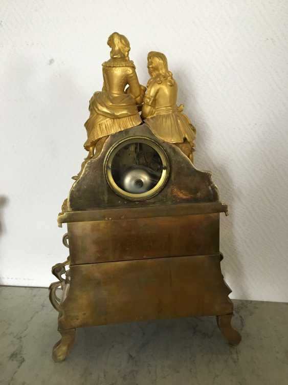 "Mantel clock ""Lovers"", XIX century - photo 2"