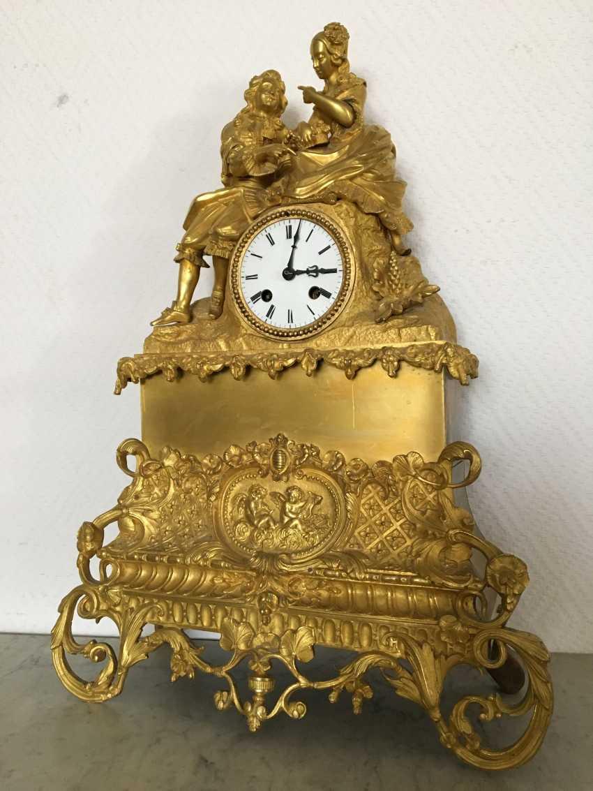 "Mantel clock ""Lovers"", XIX century - photo 1"