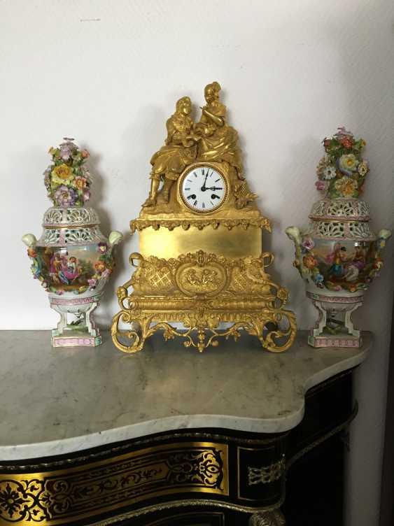 "Mantel clock ""Lovers"", XIX century - photo 3"