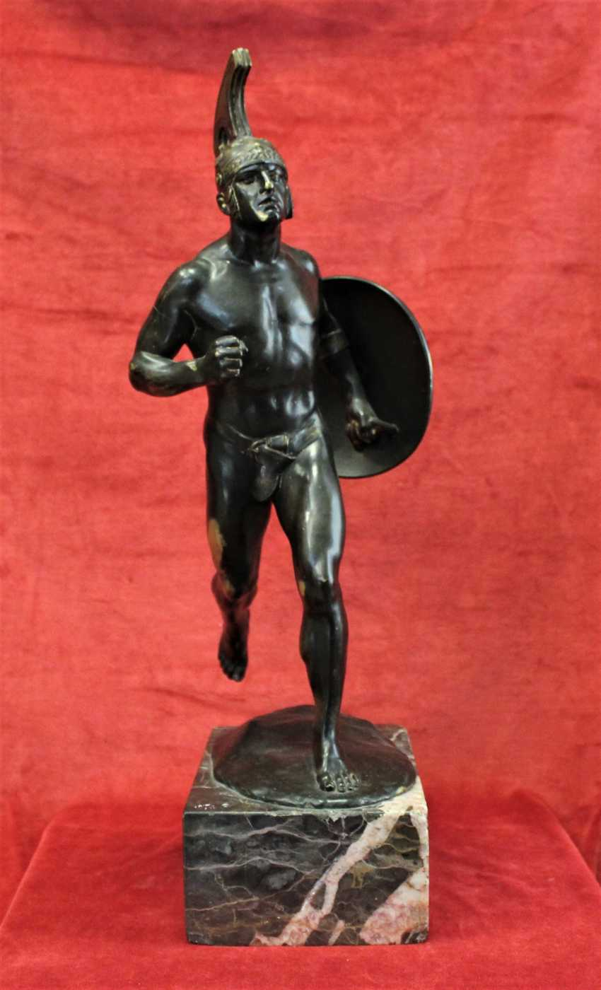 "Sculpture ""ancient Greek warrior with shield"", XIX century - photo 2"