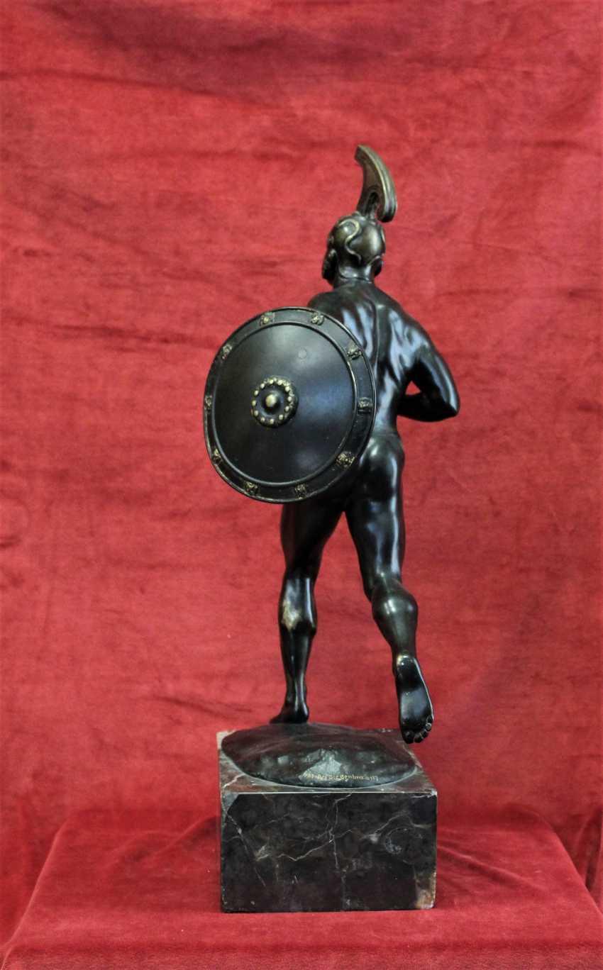 "Sculpture ""ancient Greek warrior with shield"", XIX century - photo 4"