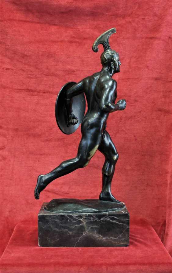 "Sculpture ""ancient Greek warrior with shield"", XIX century - photo 3"