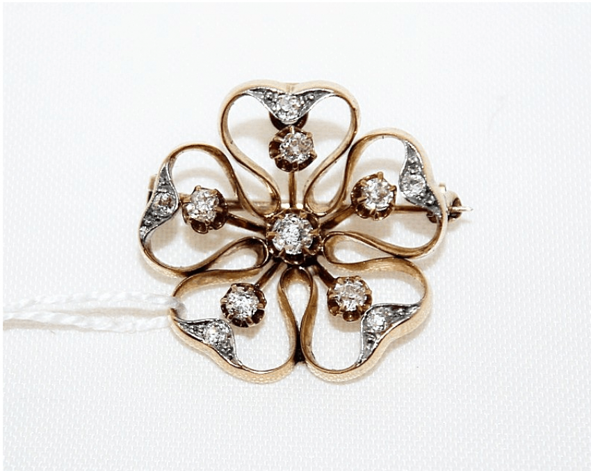 Brooch with diamonds - photo 1