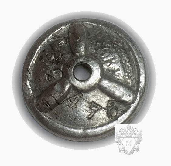 """Sign of the USSR.Narkomles"""".Enamel,screw - photo 2"""
