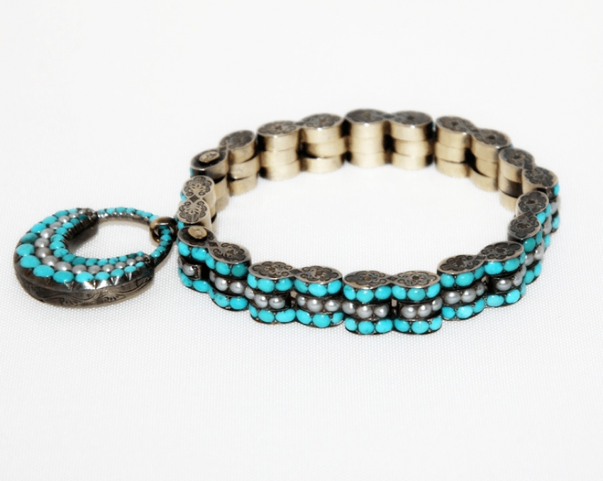 Bracelet with turquoise and pearls gold 500 - photo 1