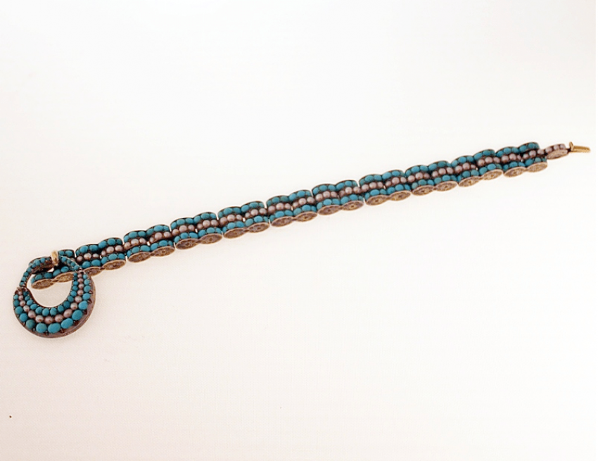 Bracelet with turquoise and pearls gold 500 - photo 2
