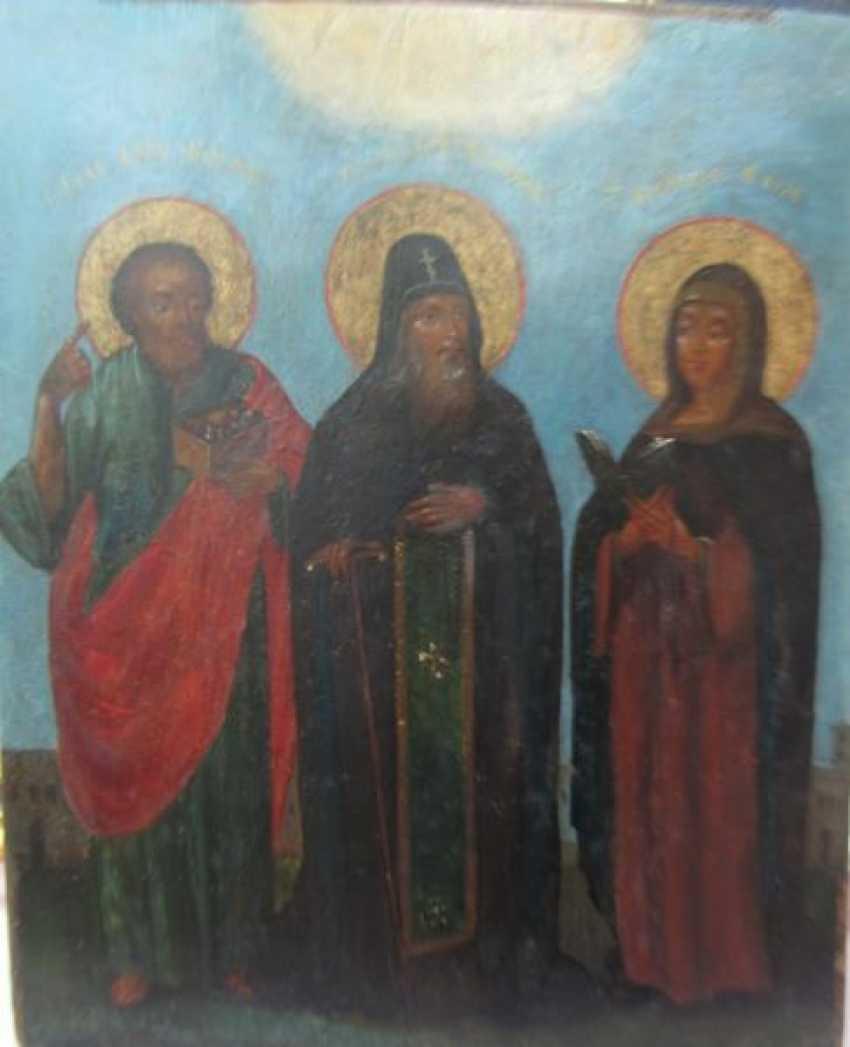 Der Heilige Prinz Daniel mit den bevorstehenden Космой und Maria - Foto 1