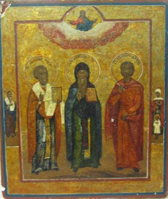 St. Anthony of the caves with the upcoming Saint Nicholas and Saint Stephen (Stepan) - photo 1