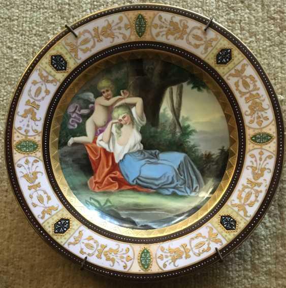 "Plate ""Lady with sex"", Vienna, XIX century - photo 1"