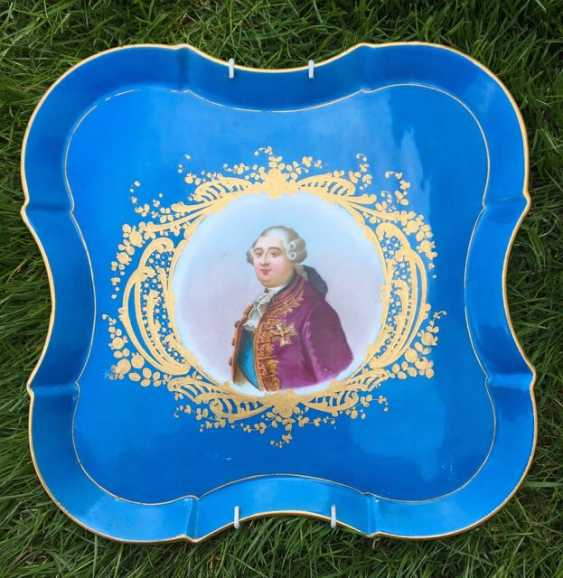 """Sevr.Porcelain tray """"Louis VI,"""" the eighteenth century - photo 1"""