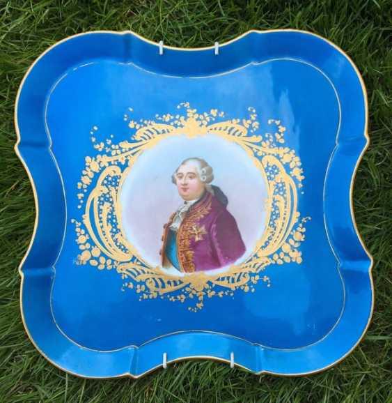 """Севр.Фарфоровый поднос """"Людовик VI"""", XVIII век - фото 1"""