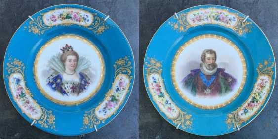 """A couple bowls """"Henry lV and Marie de Medici"""", sèvres, 1846 - photo 1"""