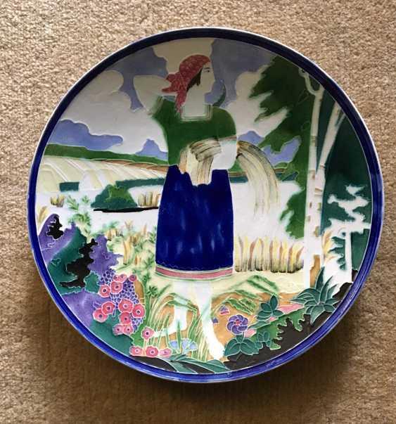"""Plate """"Reaper"""", Konakovo, XX century - photo 1"""