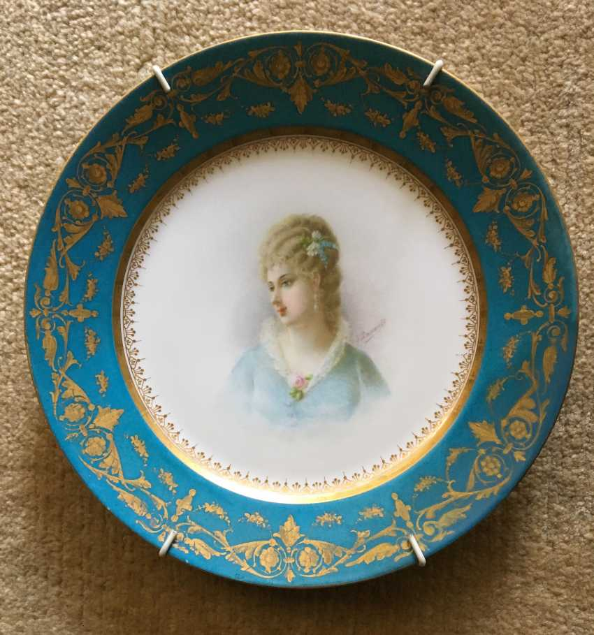 Decorative plate, sèvres, 1875 - photo 1
