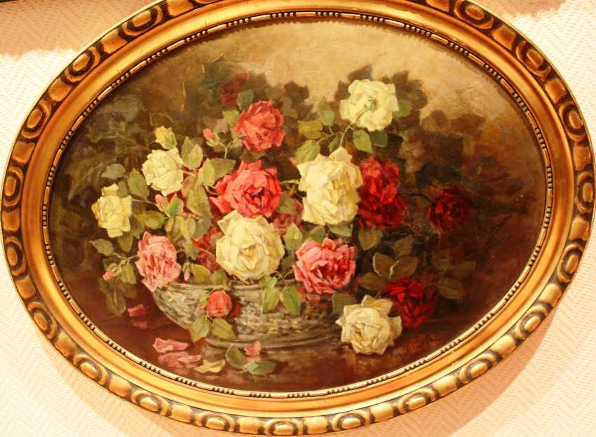 "YANKOV M. D. ""still life with roses"". Nach. XX century. - photo 1"
