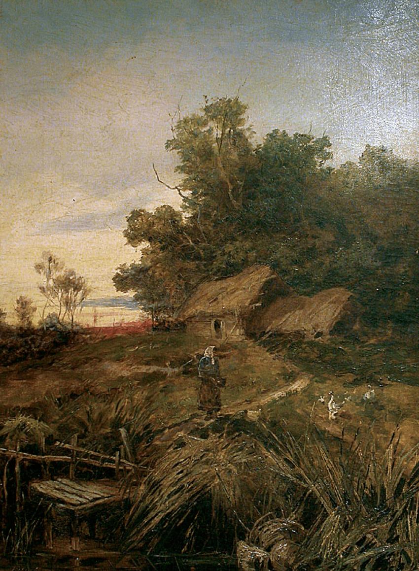 Rural landscape, Varichenko 1888. - photo 1