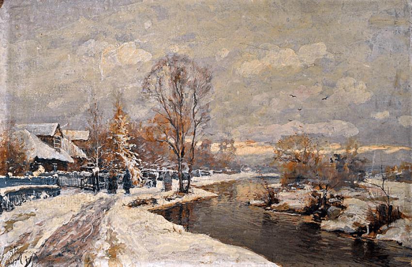 Rural landscape, F., Riznichenko 1917 - photo 1