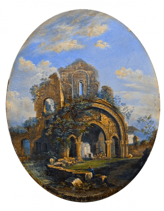 The ruins of the temple A. Fedotov 1850s G. - photo 1