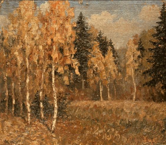 Birch grove N. Zaretsky 1900 g - photo 1