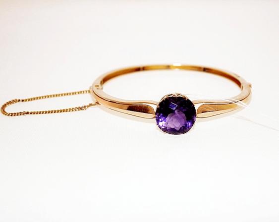 Bracelet with amethyst - photo 1