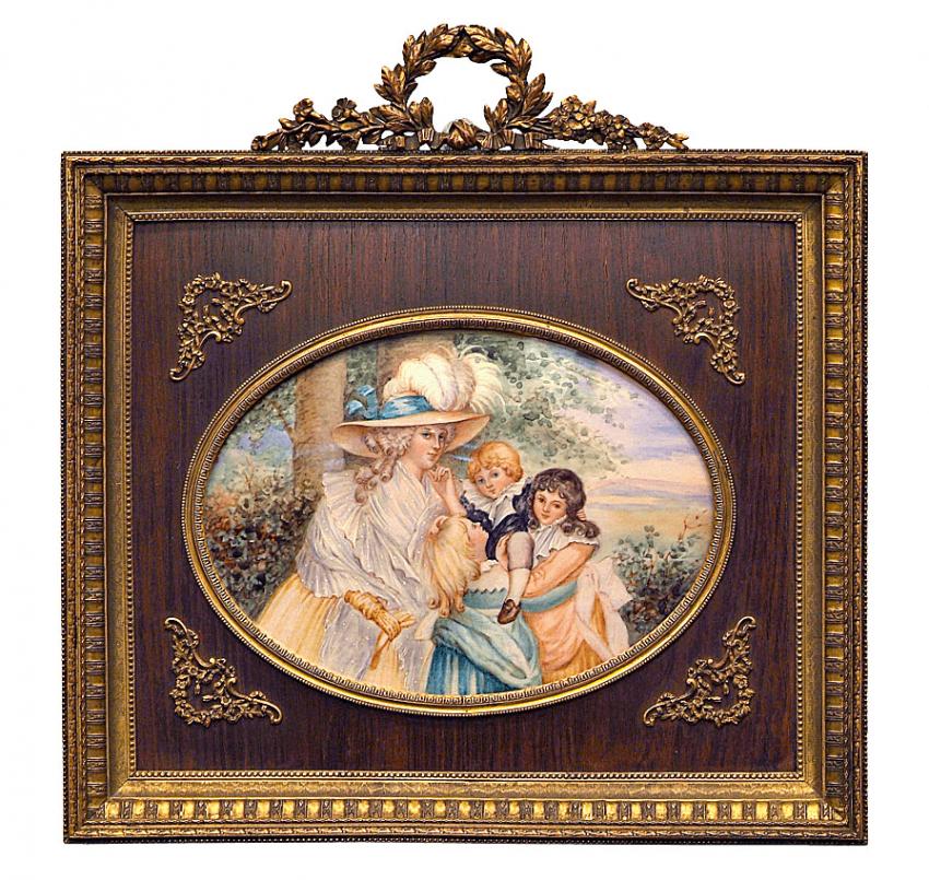 Miniature Gerome. (end of XIX century) - photo 1