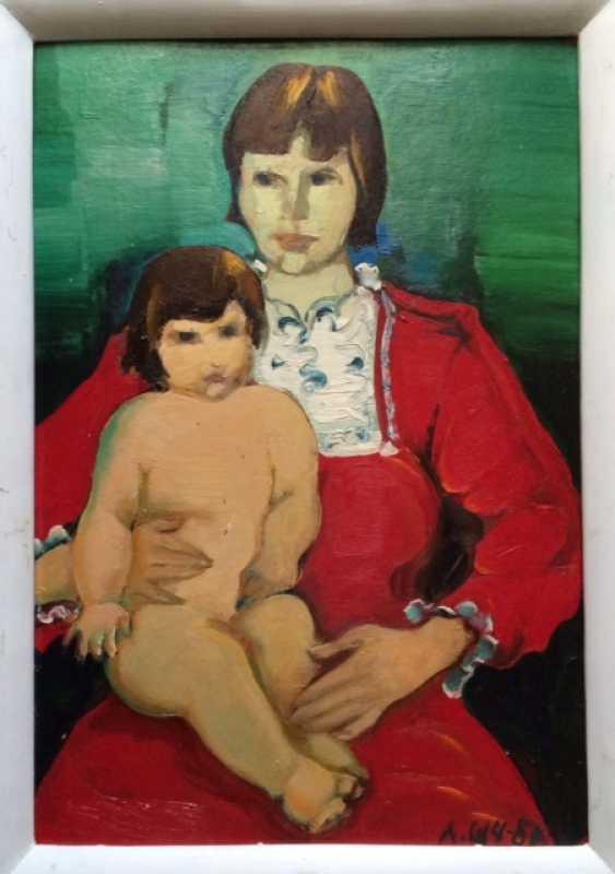 "People's artist of Belarus shemelev L. D. 1980"" Motherhood"" - photo 1"