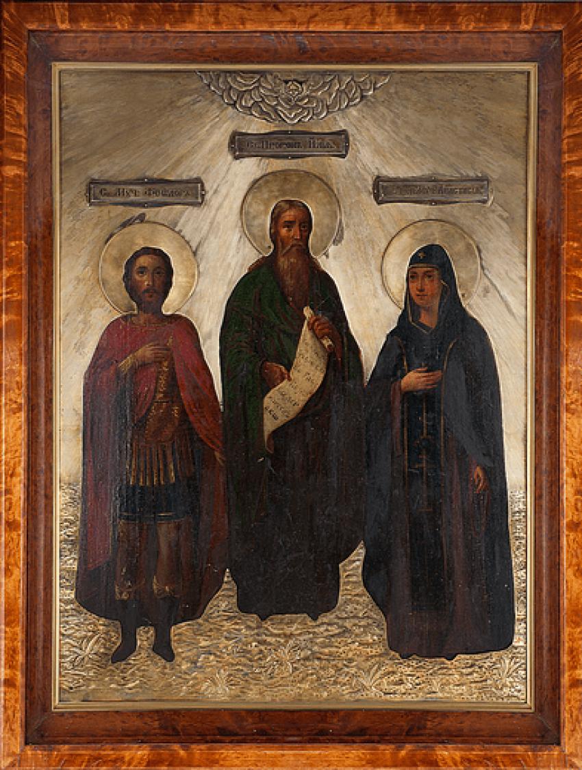 "Icon ""Fedor, Ilya, Anastasia"" - photo 1"