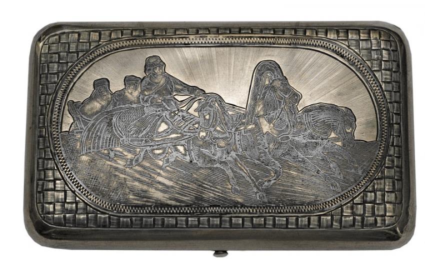 """""""The Troika cigarette case 1889. - photo 1"""