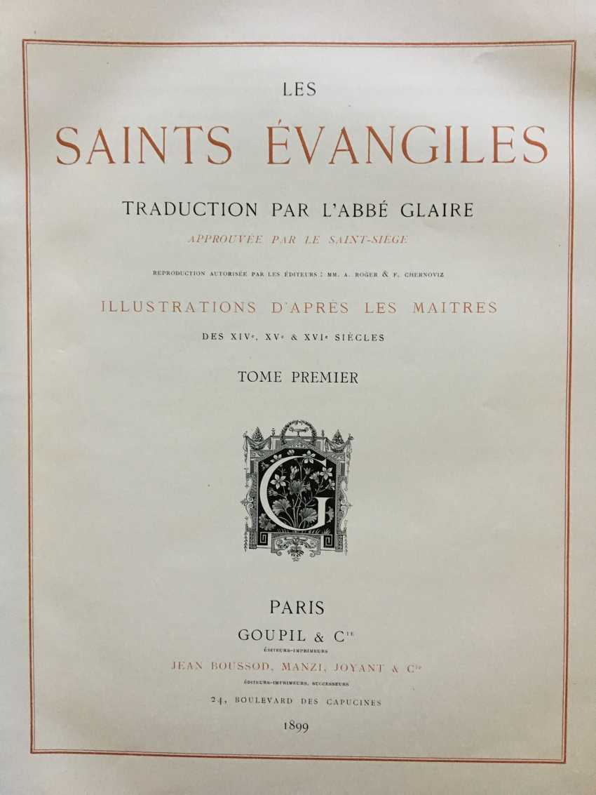 """The book """"Les Saints Evangiles"""", Paris, 1899 - photo 2"""