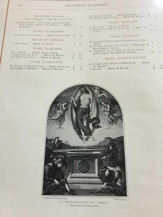 """The book """"Les Saints Evangiles"""", Paris, 1899 - photo 3"""