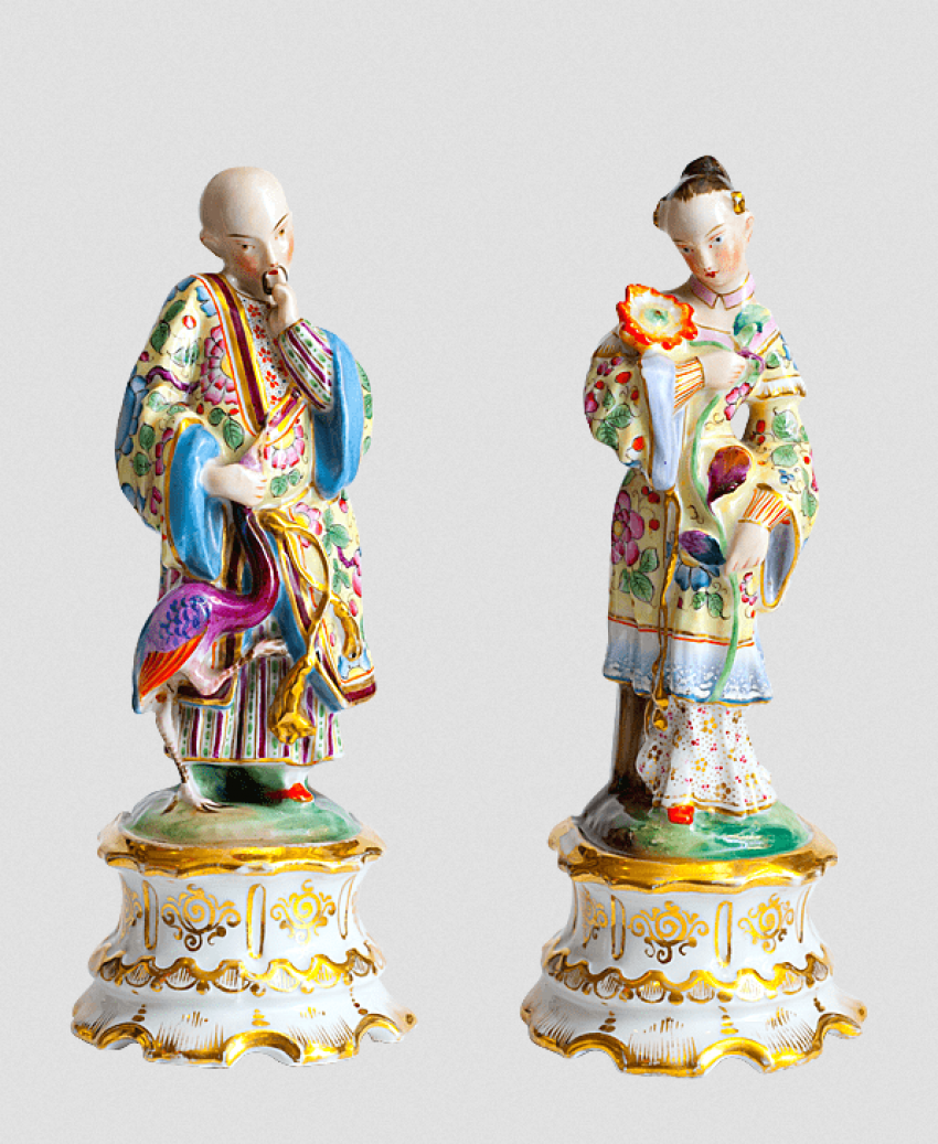 "Paired statues of ""Chinese"" - photo 1"