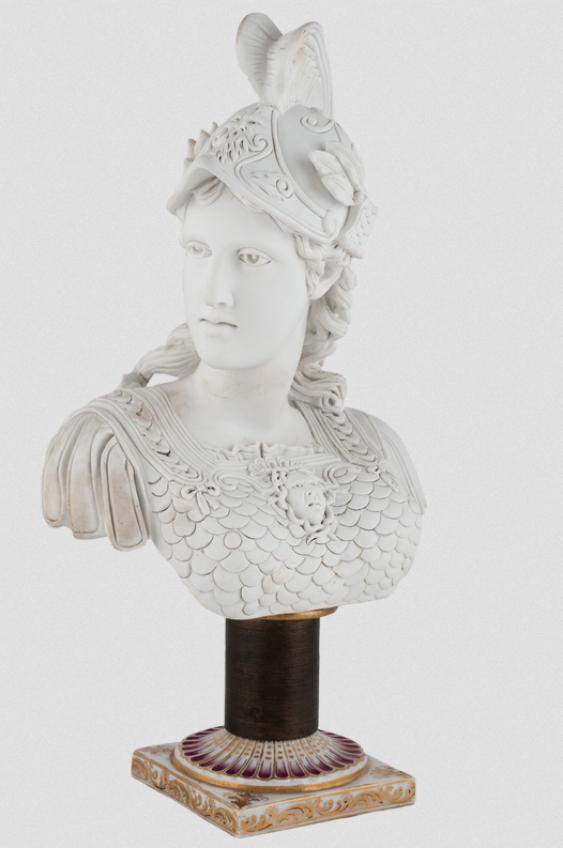 Antique bust.France, Sevres. - photo 1