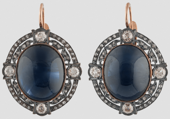 Earrings with large sapphires. - photo 1