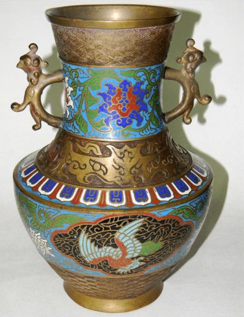 Vase Japan. Brass twentieth century. - photo 1