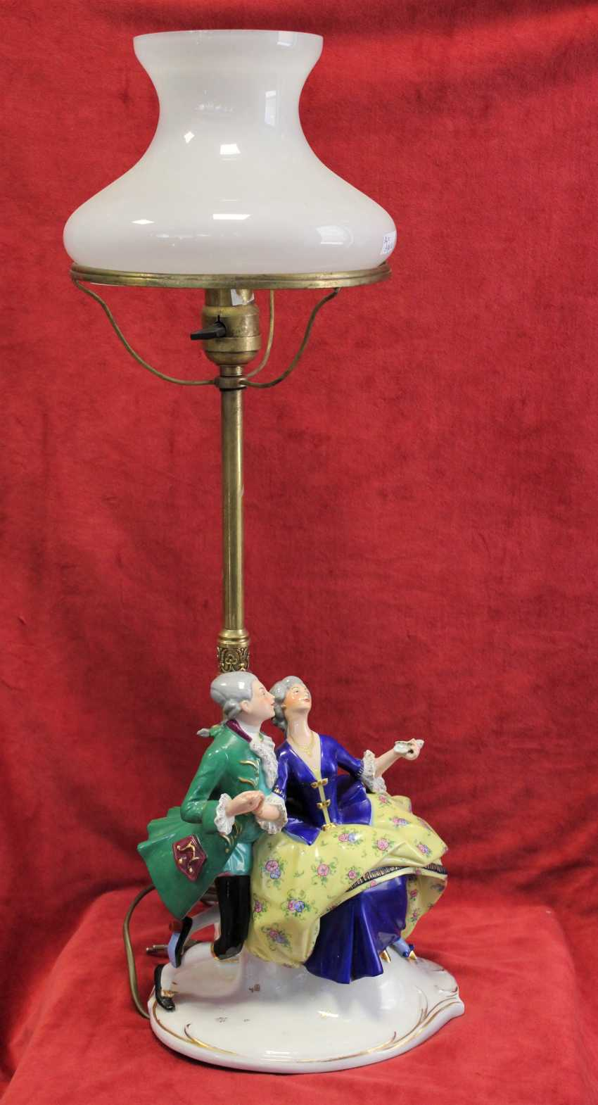 "Lamp ""Lady and gentleman"", early twentieth century - photo 1"