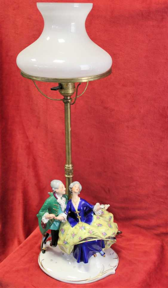 "Lamp ""Lady and gentleman"", early twentieth century - photo 3"