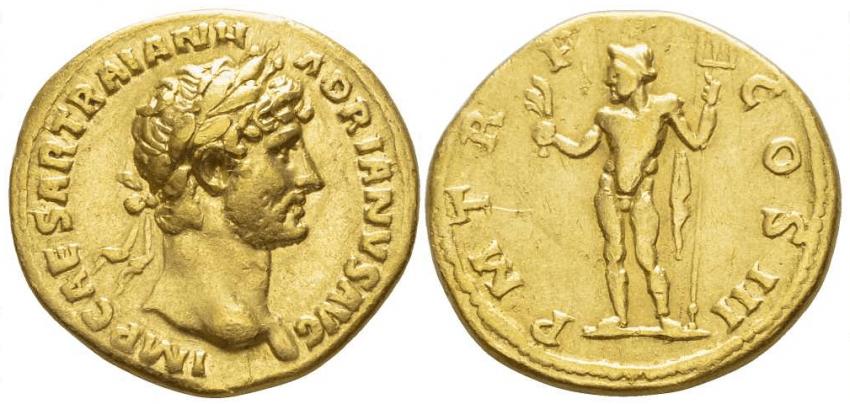 THE ROMAN EMPIRE AURA 119-122 ADRIAN - photo 1