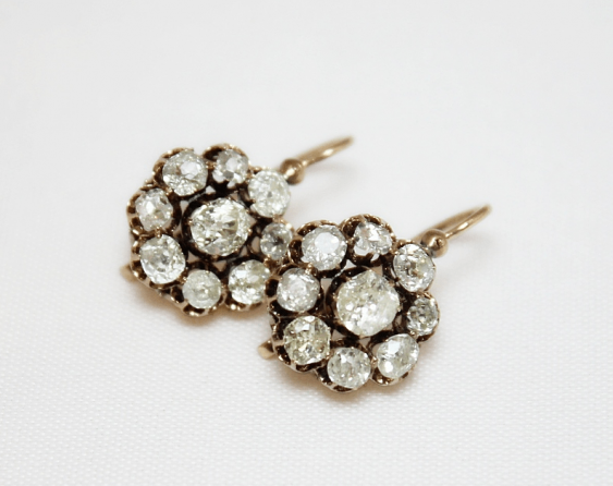 Diamond earrings - photo 1