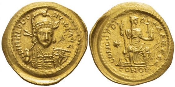 ROMAN EMPIRE SOLIDUS 408 - 420 - photo 1