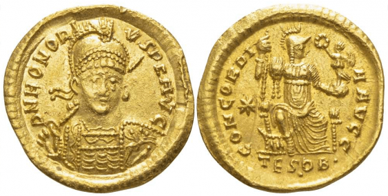 ROMAN EMPIRE SOLIDUS 408 - 423 - photo 1