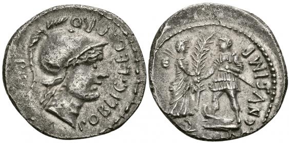 ROMAN REPUBLIC DENARIUS 46 - 45 years - photo 1