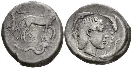 ANCIENT GREECE, SICILY, SYRACUSE TETRADRACHM - photo 1
