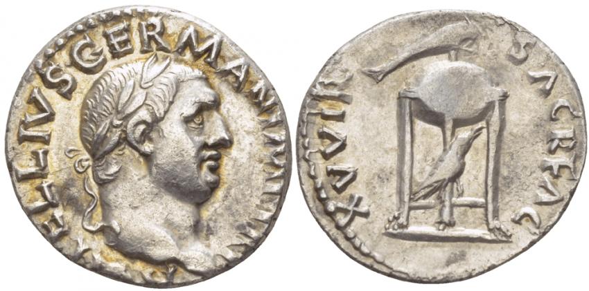 ROMAN EMPIRE DENARIUS VITELLIUS 69 - photo 1
