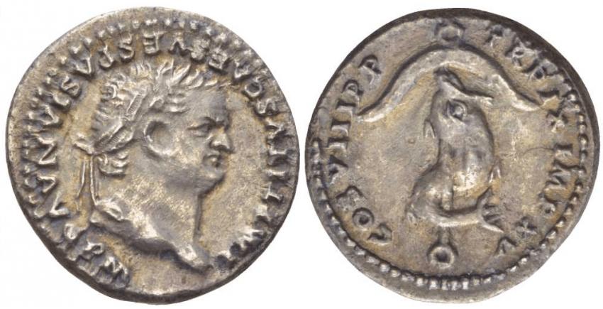 ROMAN EMPIRE DENARIUS OF TITUS 80 - photo 1