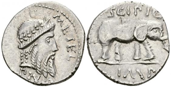 ROMAN REPUBLIC DENARIUS 47 - 46 gg - photo 1